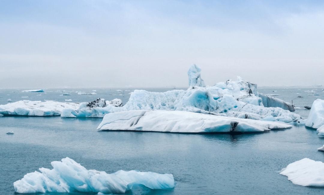 área de gelo ártico