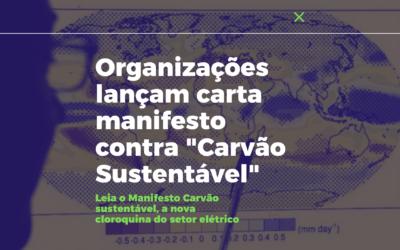 """Organizações lançam carta manifesto contra """"Carvão Sustentável"""""""